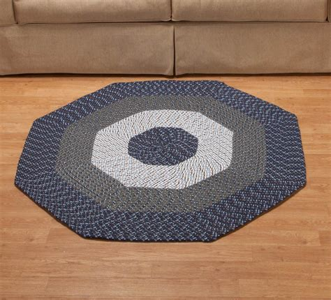 Xl Area Rugs Braided Octagon Accent Rug Xl Ebay