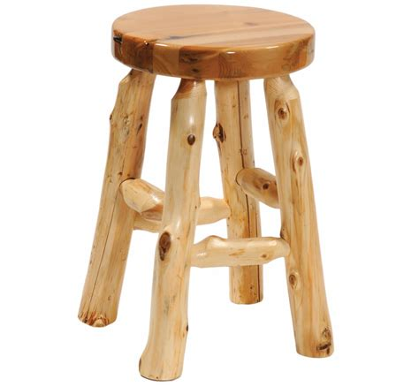 15 quot cedar log stool 16219 minnesota log bar stools