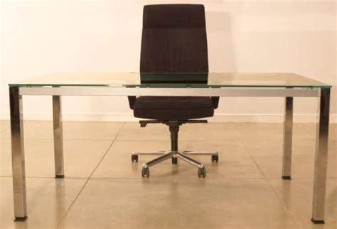 Chrome Help Desk by Glass Office Desks Executive Glass Desks Solutions 4