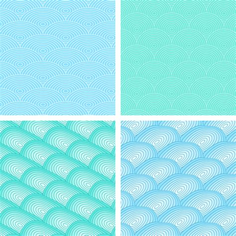 illustrator pattern wave wave simple seamless pattern free vector in adobe