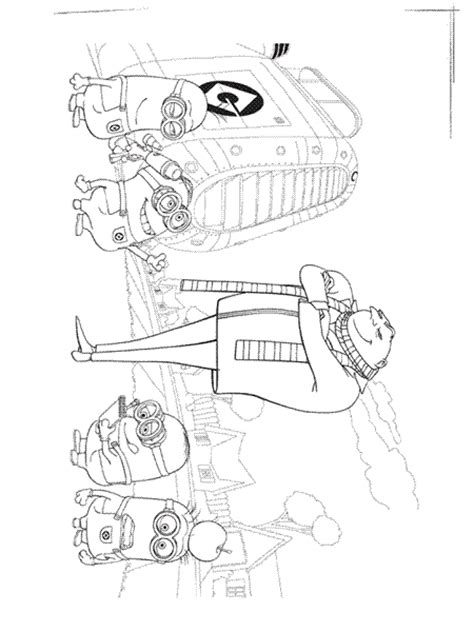 Despicable Me Coloring Pages Learn To Coloring Me To You Colouring Pages