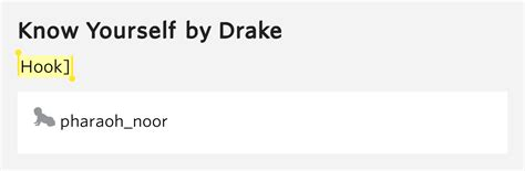 drake know yourself lyrics hook know yourself by drake