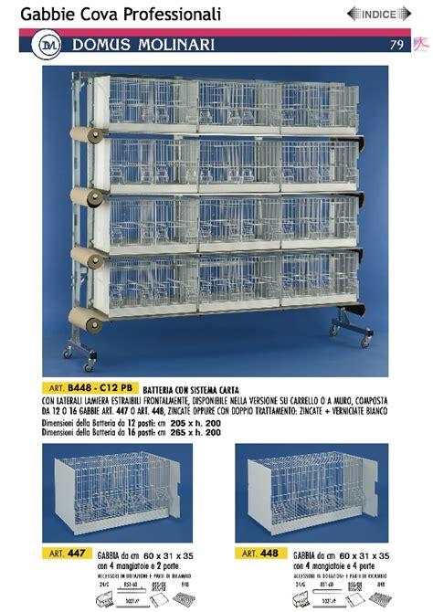 to vendo batteria di 12 gabbie domus molinari