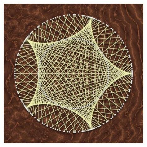String Geometric Patterns - hypocycloid 1 5