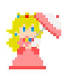 pixel character 1 mario by meowmixkitty on deviantart pixel peach by nintenloid on deviantart