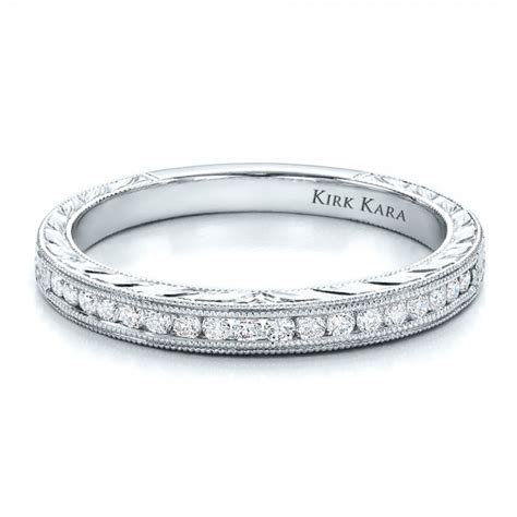 channel set band with matching engagement ring