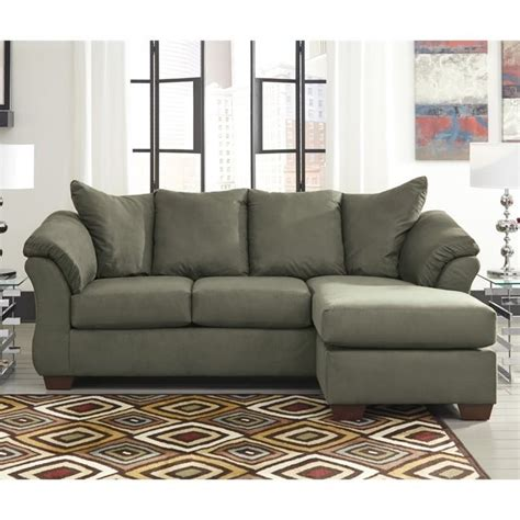 ashley furniture darcy sectional ashley furniture darcy reversible fabric sectional in sage