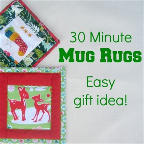 holiday mug rug  sewing loft