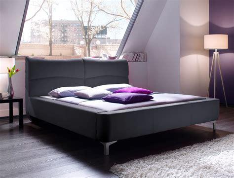 schlafzimmer nachttischle polsterbett cloude bett 160x200 cm stoffbezug anthrazit