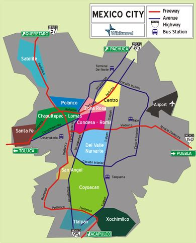 map of mexico df mexico city wikitravel