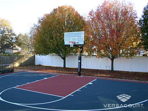 backyard basketball versacourt indoor outdoor backyard basketball courts