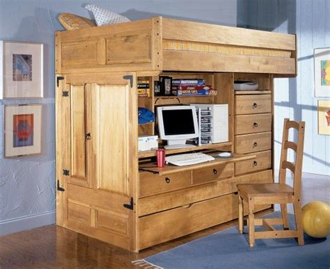 Queen Loft Beds For Adults Bunk Bed Bedroom Suite All In One Bunk Bed With Desk