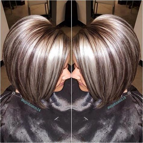 platinum highlights for graying brunette hair 2112 best hair images on pinterest hairstyles short