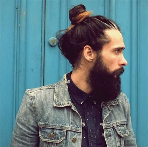 top knot men how long to grow man bun top 25 man buns