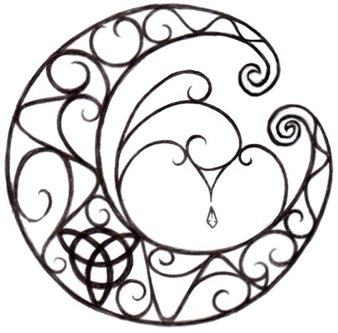 celtic moon tattoo moon designs