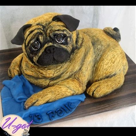 black pug cake top cakes with dogs cakecentral
