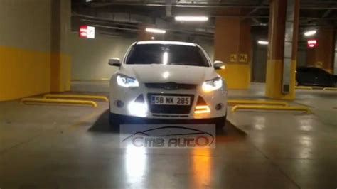 ford focus  led bar sinyalli guenduez fari youtube
