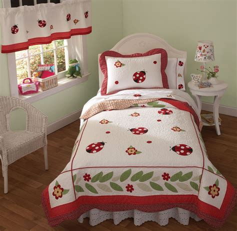 ladybug comforter lady bug bedding quilt set in full queen and twin with sham