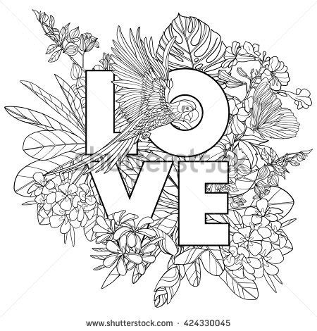 coloring pictures of love words adult words coloring pages sketch coloring page