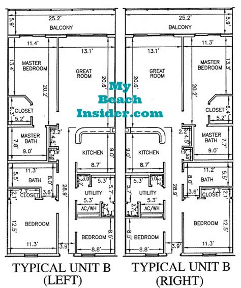 floor plans for units calypso towers condo floor plans panama city beach florida