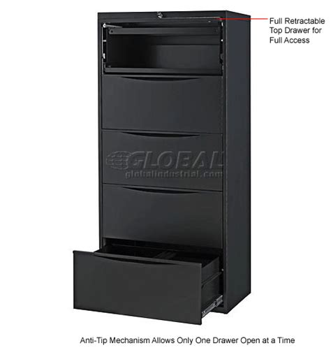 interiontm 30 premium lateral file cabinet 2 drawer black interion 174 30 quot premium lateral file cabinet 5 drawer black