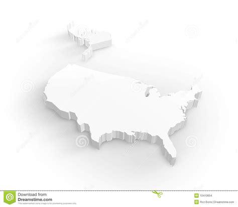 usa map 3d blank usa 3d map stock illustration image of land hawaii