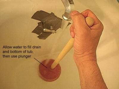 bathtub slow to drain 1000 ideas about unclog tub drain on pinterest cleaning