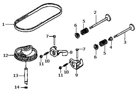 Honda Gcv160 Parts Plano Power Equipment Store Gcv160 Camshaft Valves