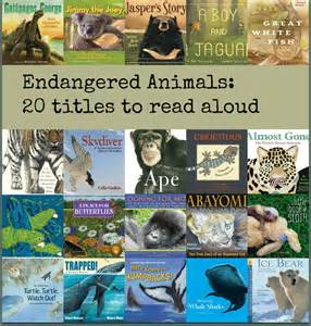 endangered species books endangered animals there s a book for that