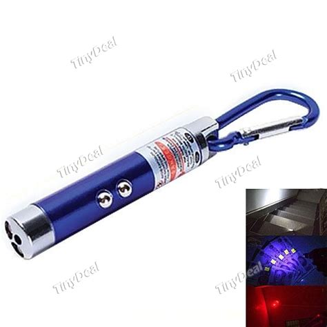 Senter Laser Mini 3 In 1 3 in 1 mini laser light pointer led torch flashlight carabiner sch 298054 tinydeal