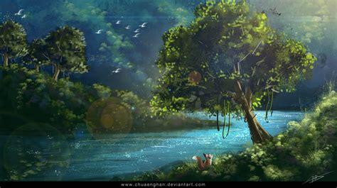 anime island stream the jungle paradise by chuaenghan on deviantart