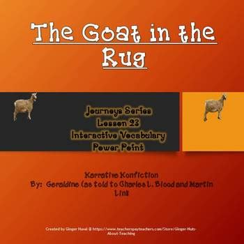 the goat in the rug goat in the rug interactive vocabulary power point tpt