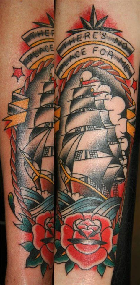 clipper ship tattoo ben rorke westside in brisbane australia can t