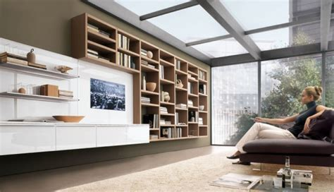 living room wall storage future house design modern living room wall units for book storage from misuraemme