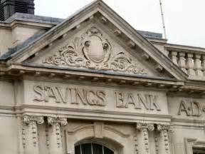 savings banks savings bank frieze 169 gerald geograph britain