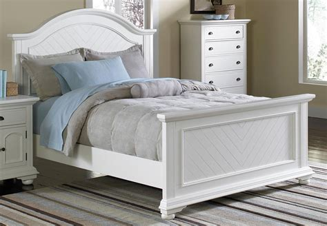 White Headboard And Footboard by Elements Brook White Media Chest