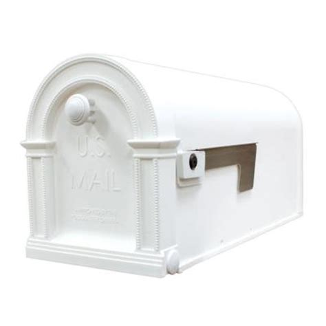 gibraltar mailboxes laurel decorative arctic white plastic