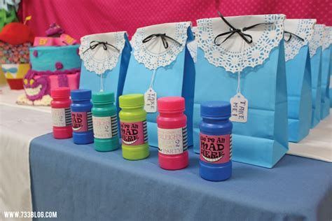 Alice In Wonderland Party Giveaways - alice in wonderland birthday party seven thirty three
