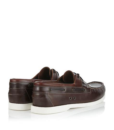 kg by kurt geiger sorrento leather boat shoe in brown for - Boat Shoes Kurt Geiger