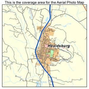 aerial photography map of healdsburg ca california