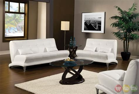 White Livingroom Furniture Artem Modern White Living Room Set With Pillows Sm6072