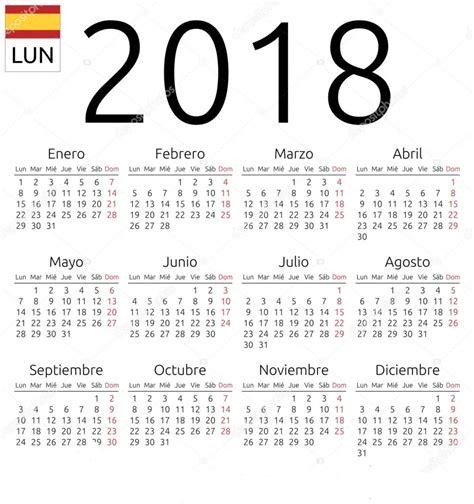 Calendario Vacaciones 2018 Calendario Anual 2018 Y Con Vacaciones Calendario 2018