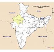 Rajasthan Location Map Of In India