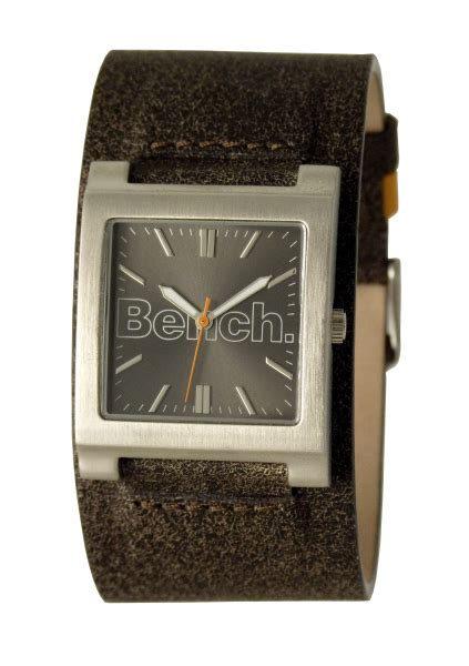bench watch strap bench mens brown strap square dial watch clothing thehut com