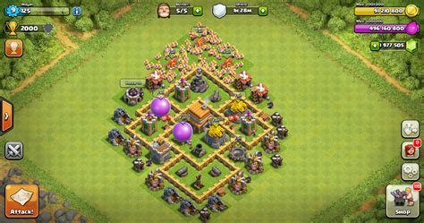 layout coc yang susah di tembus thropy base clash of clans th 5 terkuat design base
