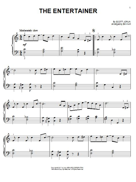 tutorial piano the entertainer the entertainer sheet music by scott joplin easy piano