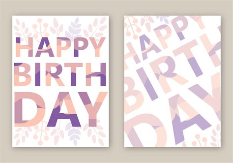birthday card template free vector free happy birthday card vector free vector