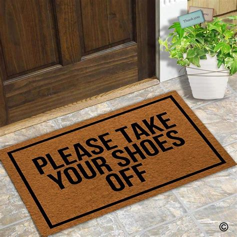 Take Your Shoes Doormat by Doormat Entrance Floor Mat Door Mat Take Your