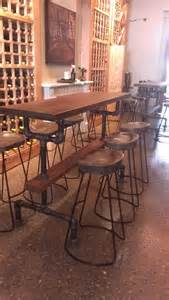Industrial Kitchen Table Furniture Industrial Farmhouse Bar Height Kitchen Table The