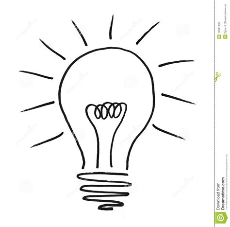 illustrated lightbulb stock photo image 16941030